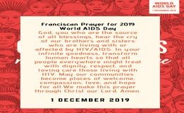 OFM Franciscan India - MESSAGE OF THE MINISTER GENERAL FOR WORLD HIV/AIDS DAY 2019