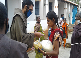 OFM Franciscan India - COVID-19 Relief Work in Prakruthi Mithra – Chundale, Pakkalipallam