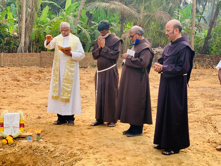 OFM Franciscan India - The Blessing of the Foundation Stone for a Friary, Goa